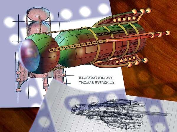 Rocket Ship (Promotional Card)